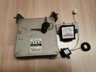 комплект стартовый ecu immo kf69 mazda 323f ba 2.0 v6 - фото