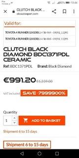 комплект комплекта сцепления black diamond toyota 4runner - фото