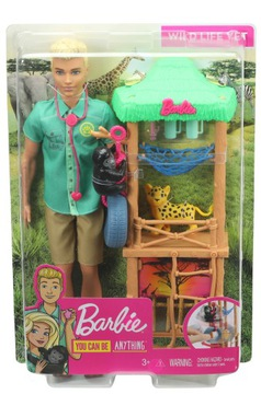 Барби Кен Карьера Ветеринар в зоопарке GJM33 доставка товаров из Польши и Allegro на русском