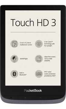 Czytnik e booków PocketBook Touch HD 3 Wi Fi szary