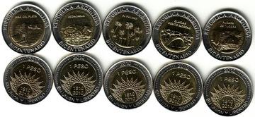 АРГЕНТИНА набор 5 монет bimetale доставка товаров из Польши и Allegro на русском
