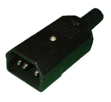Штекер компьютерный 3pin AC кабель питания (0499) доставка товаров из Польши и Allegro на русском