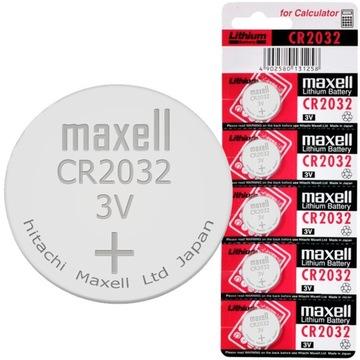 Литиевая батарея MAXELL CR2032 CR 2032 -- 5 штук доставка товаров из Польши и Allegro на русском