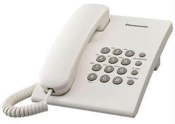 ТЕЛЕФОН SZNUROWY PANASONIC KX-TS 500 PD Белый доставка товаров из Польши и Allegro на русском
