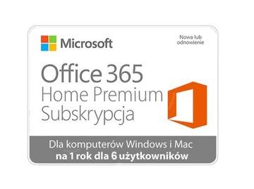 Microsoft Office 365 Home Premium 6 пользователей доставка товаров из Польши и Allegro на русском