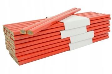 КАРАНДАШ столярный красный 25см плотничный HB 50шт доставка товаров из Польши и Allegro на русском