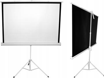 Ekran projekcyjny STATYW przenośny 200x150cm KINO доставка товаров из Польши и Allegro на русском
