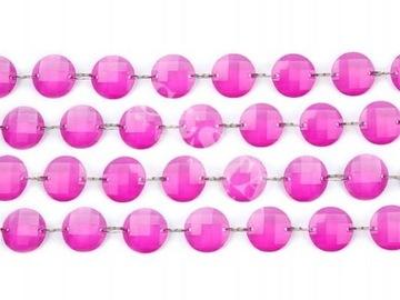 Girlanda kryształowa różowa Walentynki dekoracja доставка товаров из Польши и Allegro на русском