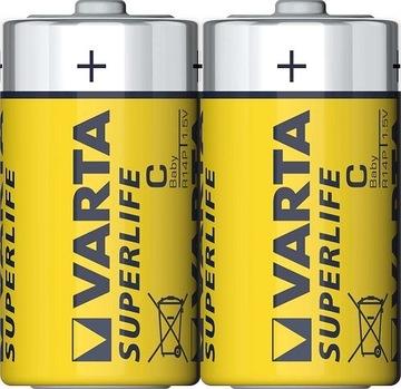 2x Батарейки VARTA Superlife R14 C углеродно-цинковые доставка товаров из Польши и Allegro на русском