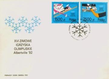 Fi 3221-22 FDC. Zimowa Olimpiada w Albertville доставка товаров из Польши и Allegro на русском