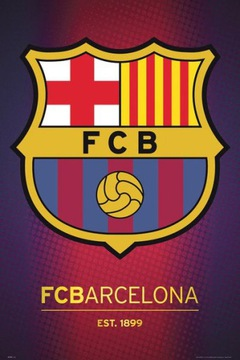 Логотип ФК Барселона - плакат 61x91,5 см доставка товаров из Польши и Allegro на русском