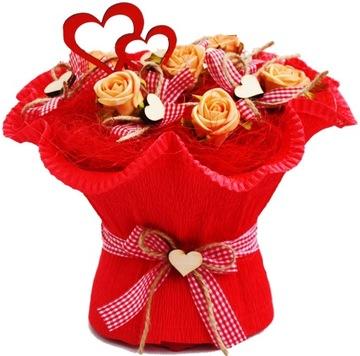 MEGA COOL Подарок ко Дню святого Валентина Букет полотенец  доставка товаров из Польши и Allegro на русском
