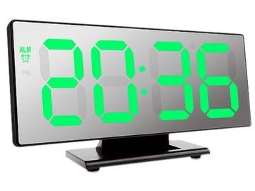 LED DIGITAL CLOCK - ЗЕРКАЛО USB ТЕРМОМЕТР БУДИЛЬНИК доставка товаров из Польши и Allegro на русском