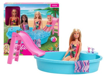 КУКЛА БАРБИ БАССЕЙН набор с куклой Барби GHL91 доставка товаров из Польши и Allegro на русском