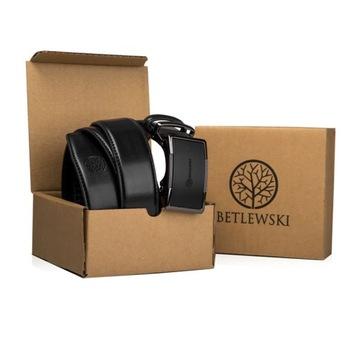 BETLEWSKI ремень кожаный мужской брюк кожа пряжка доставка товаров из Польши и Allegro на русском