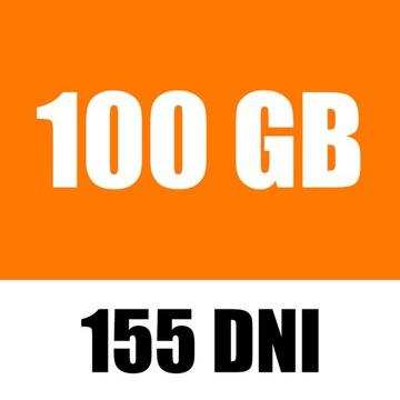 ORANGE FREE 100GB INTERNET NA KARTĘ MOBILNY LTE