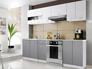 Кухонная мебель ЭКО арктическая белизна + серый мат доставка товаров из Польши и Allegro на русском