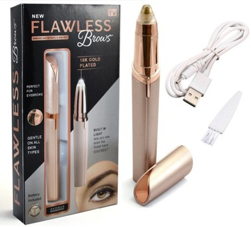 DEPILATOR TRYMER DO BRWI TWARZY Flawless Brows USB