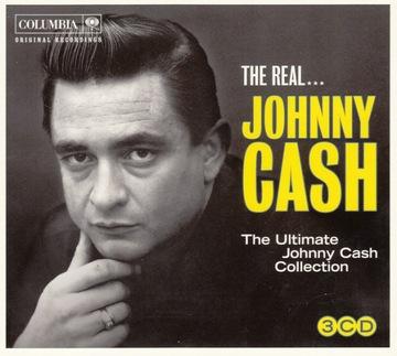 JOHNNY CASH-The Real... Джонни Кэш 3CD музыкантов доставка товаров из Польши и Allegro на русском