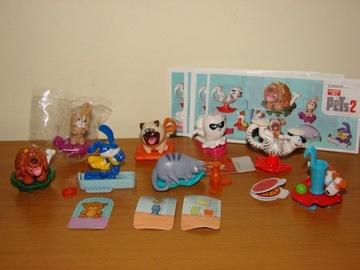 Фигурки киндер комплект НОВЫЕ Животные 2 + бумажки доставка товаров из Польши и Allegro на русском
