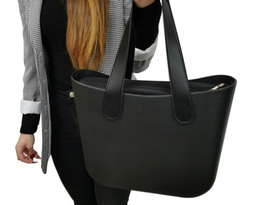 Сумка Женская с Jelly Bag Shopper на плечо черная доставка товаров из Польши и Allegro на русском