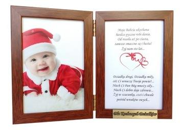 Подарок на День Бабушки, Дедушки, Рамка с гравировкой доставка товаров из Польши и Allegro на русском