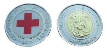 Панама 1 бальбоа Красный крест Флаг 2017 доставка товаров из Польши и Allegro на русском
