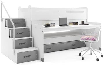 Łóżko piętrowe MAX 1 200x80 dla dzieci z BIURKIEM