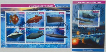 Okręty podwodne '1 Djibouti arkusik+blok #11144a-b доставка товаров из Польши и Allegro на русском