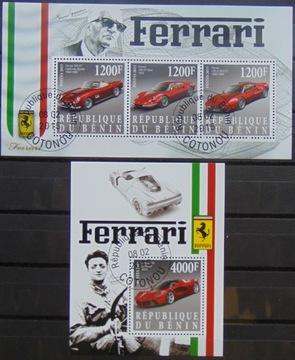 Автомобили Ferrari листов.+блок #16209a-b доставка товаров из Польши и Allegro на русском