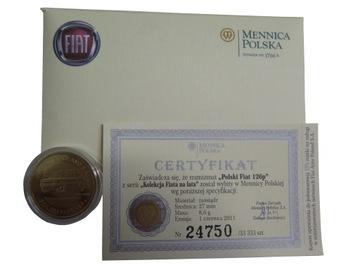 Numizmat, монета коллекционная FIAT 126p доставка товаров из Польши и Allegro на русском