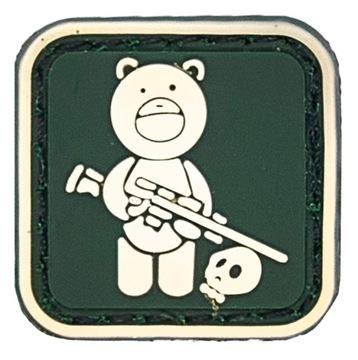 (МИШКА винтовка наклейка на липучке ПВХ мораль патч) доставка товаров из Польши и Allegro на русском