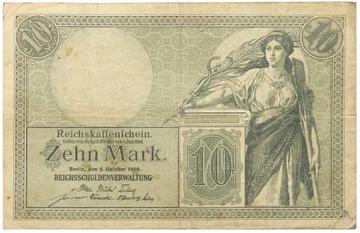 Германия - БАНКНОТЫ - 10 Марок 1906 - Ro: 27 доставка товаров из Польши и Allegro на русском