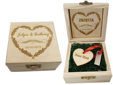 Деревянный ящик на флешку+гравер+pen16GB свадьба доставка товаров из Польши и Allegro на русском