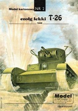 Model Card nr 002 Czołg T-26 доставка товаров из Польши и Allegro на русском