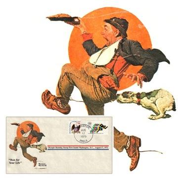 США N. Rockwell Беги, Сколько Сил в Ногах Конверт доставка товаров из Польши и Allegro на русском