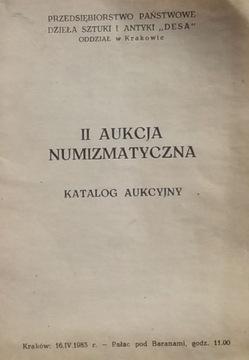 II AUKCJA NUMIZMATYCZNA –DESA – 1983 доставка товаров из Польши и Allegro на русском