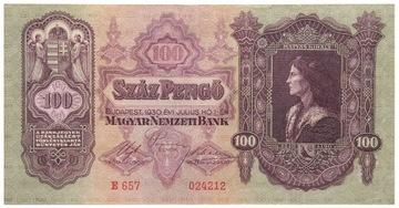 Венгрия - КУПЮРА - 100 Pengo 1930 доставка товаров из Польши и Allegro на русском