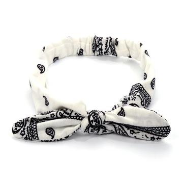 Повязка для волос белая узел на резинке ROCK COUNTRY доставка товаров из Польши и Allegro на русском
