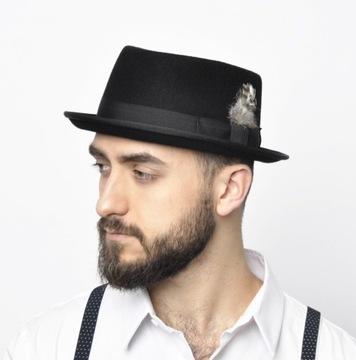Шляпа мужской porkpie КАСПЕР 100% шерсть р 58 доставка товаров из Польши и Allegro на русском