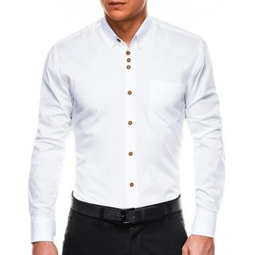 Мужская рубашка элегантный wizytowa K302 белый L доставка товаров из Польши и Allegro на русском