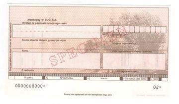 чек печатается Банк Экономический Союз BUG1 доставка товаров из Польши и Allegro на русском