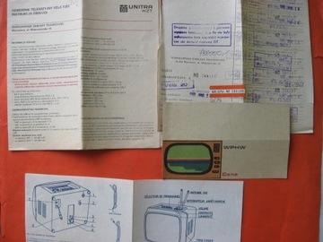 Телевизор VELA T205 Unitra CTM Варшава 1982 доставка товаров из Польши и Allegro на русском
