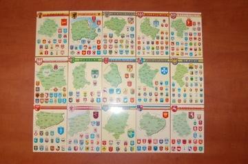 НАБОР ИЗ 15 ПРОВИНЦИЙ КАРТЫ, ГЕРБЫ POSTCROSSING доставка товаров из Польши и Allegro на русском