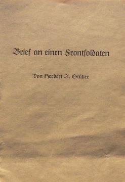 HERBERT A. STURZER – Brief an einen Frontsoldaten доставка товаров из Польши и Allegro на русском