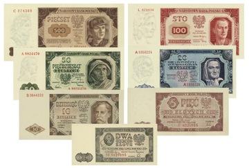 k43 . Набор банкнот ПНР 2 - $ 500, 1948 repro UNC доставка товаров из Польши и Allegro на русском
