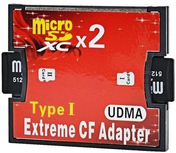 Адаптер 2x Micro SD SDHC SDXC CF 128GB доставка товаров из Польши и Allegro на русском