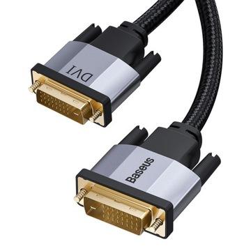 Baseus Кабель, кабель DVI-DVI 2K60Hz 24-pin DUAL 2м доставка товаров из Польши и Allegro на русском