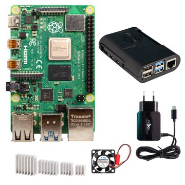 Набор Raspberry Pi 4B 4GB корпус, вентилятор и т. д. доставка товаров из Польши и Allegro на русском