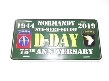 ТАБЛИЧКА D-DAY 1944-2019 НОРМАНДИЯ ПАНИХИДА доставка товаров из Польши и Allegro на русском